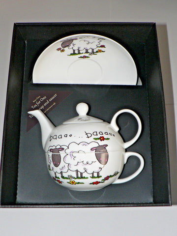 Sheep pattern tea for one set Teapot cup and saucer gift boxed T41 Tea 4 1