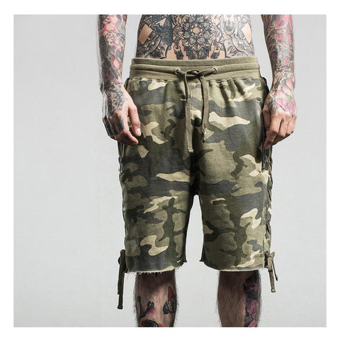Camo Zipper Shorts