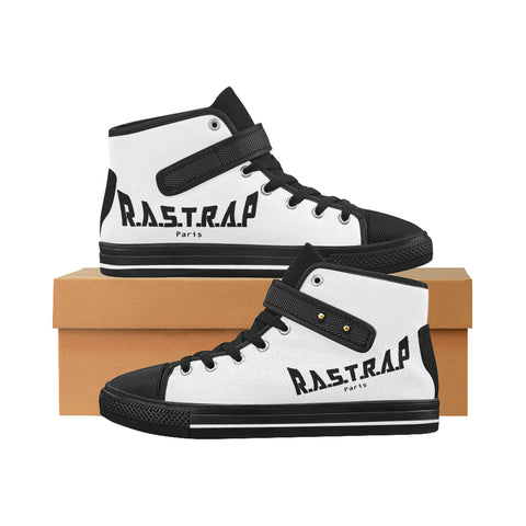 High Top Rastrap Black Aquila Strap Men's Shoes/Large Size (Model 1202)