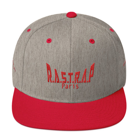 Snapback Rastrap Grey/Red