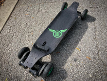 "Custom Complete: Landyachtz Evo Falcon 40"" Blackout With Green Accents"