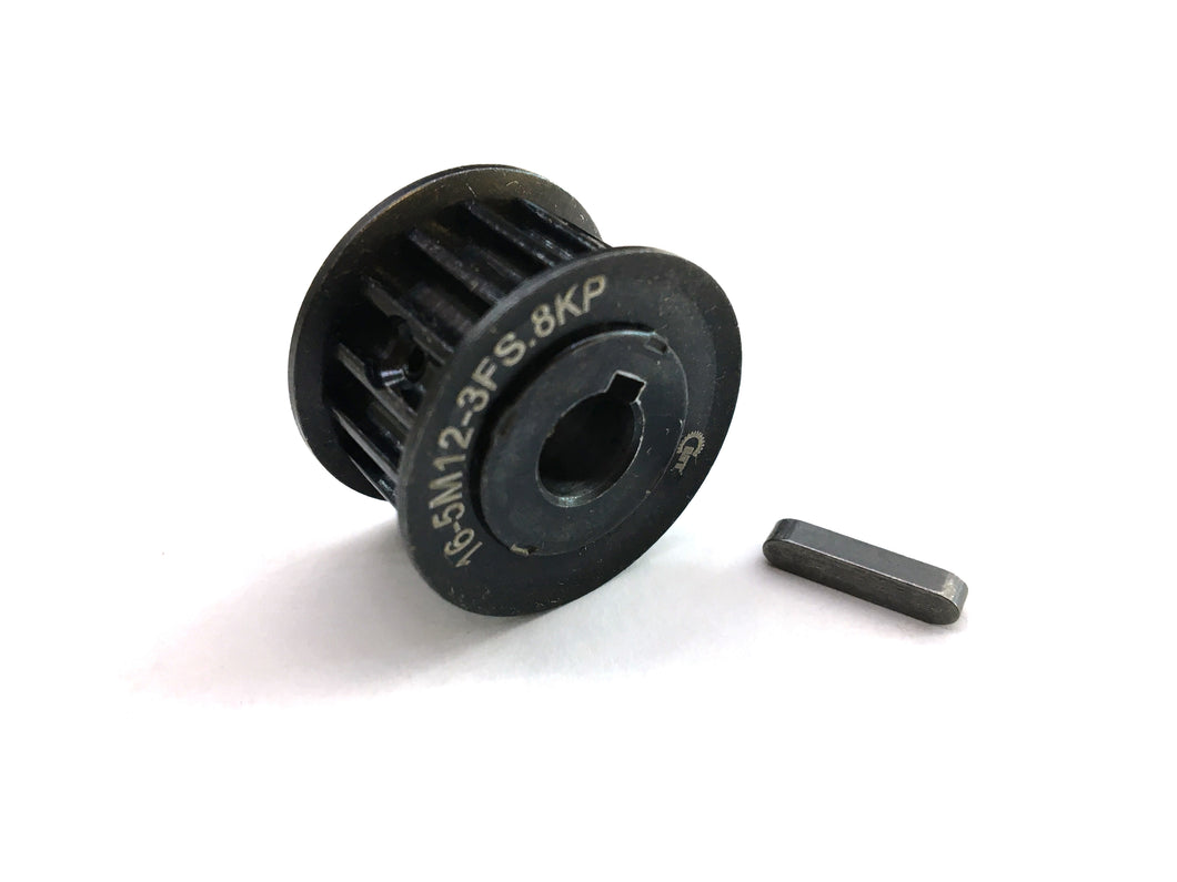 12mm 16T HTD-5M Black Steel Motor Pulley
