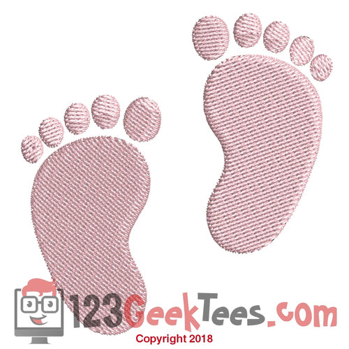 8b34b4edc Baby Feet Infant Feet Embroidery Design In 2 Sizes - Embroidery Design