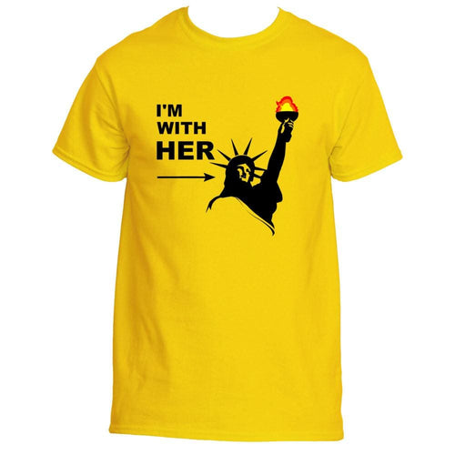 f30f1a00 Im With Her Statue Of Liberty T-Shirt Tshirt Tee With Black Design