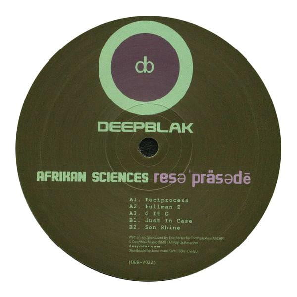 Afrikan Sciences - Reciprocity EP - Vinyl Records at The Sound Arcade