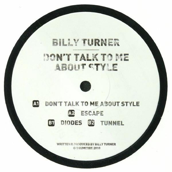 Billy Turner - Don't Talk To Me About Style - Vinyl at The Sound Arcade