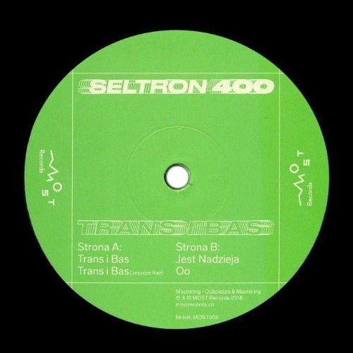 Seltron 400 – Trans I Bas - Vinyl at The Sound Arcade
