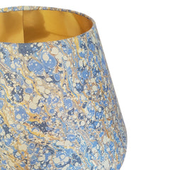 Munro and Kerr blue gold marbled paper tapered empire lampshade