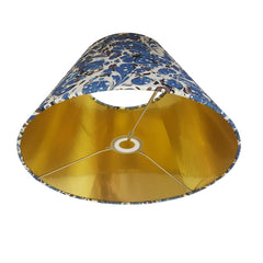 Munro and Kerr blue swirl marbled paper for a handmade tapered empire lampshade