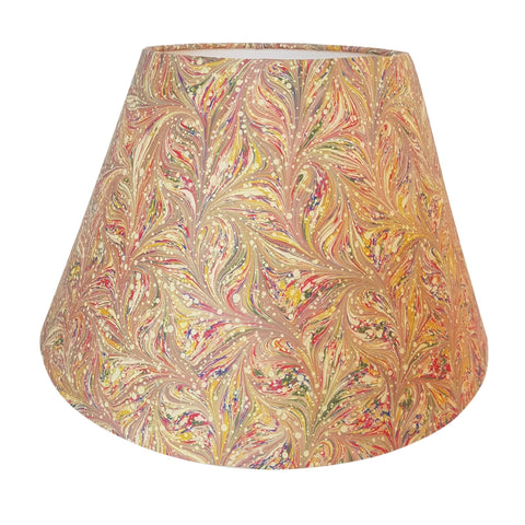 Munro and Kerr combed pink multicolour marbled paper empire lampshade