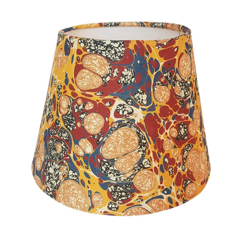 Munro and Kerr yellow marbled paper empire lampshade Payhembury