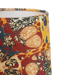 Munro and Kerr multicoloured marbled paper drum lampshade