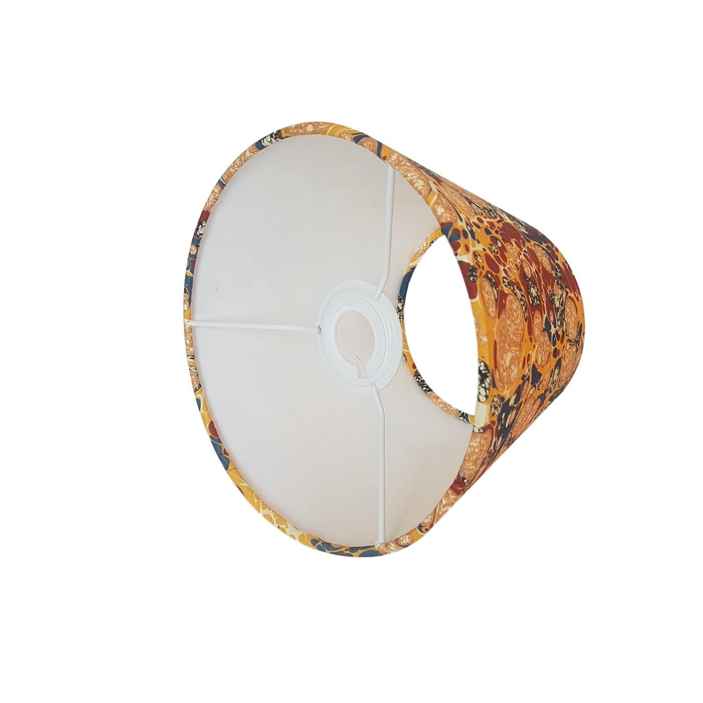 Munro and Kerr multicoloured marbled paper tapered empire lampshade
