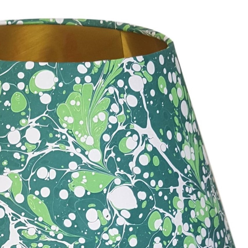 Munro and Kerr green marbled paper for a empire lampshade
