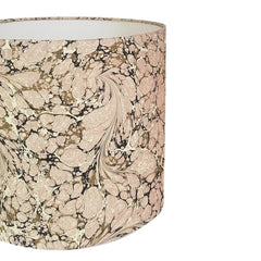 Munro and Kerr pretty pink and stone marbled paper drum lampshade