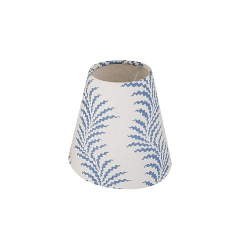 Munro and Kerr customers own material soane linen candle clip lampshade