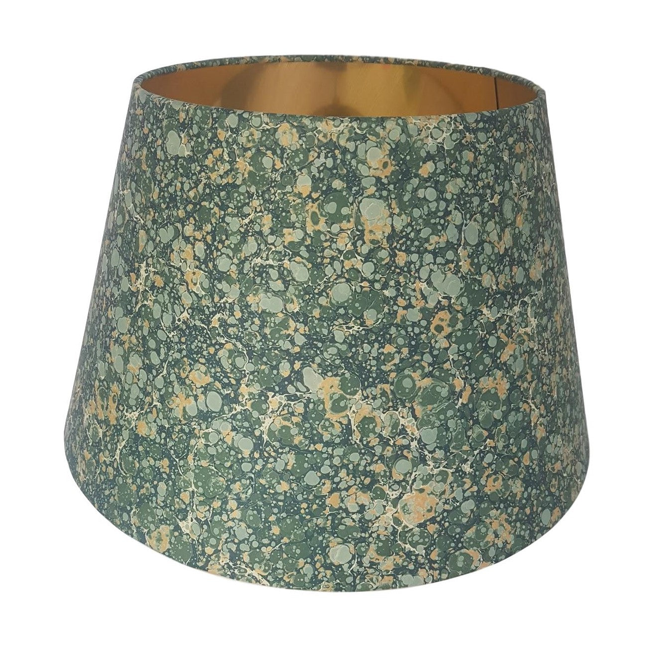 Munro and Kerr green and gold marbled paper for an empire lampshade
