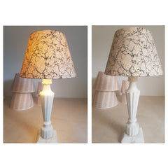 Munro and Kerr pretty pink and stone marbled paper empire lampshade