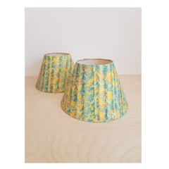 Yellow #03 Marbled Paper Tapered Empire Lampshade