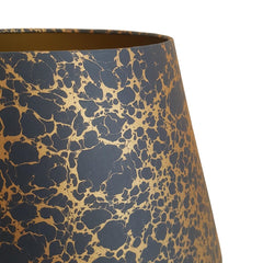 Munro and Kerr navy blue and gold marbled paper for Tapered Drum lampshade