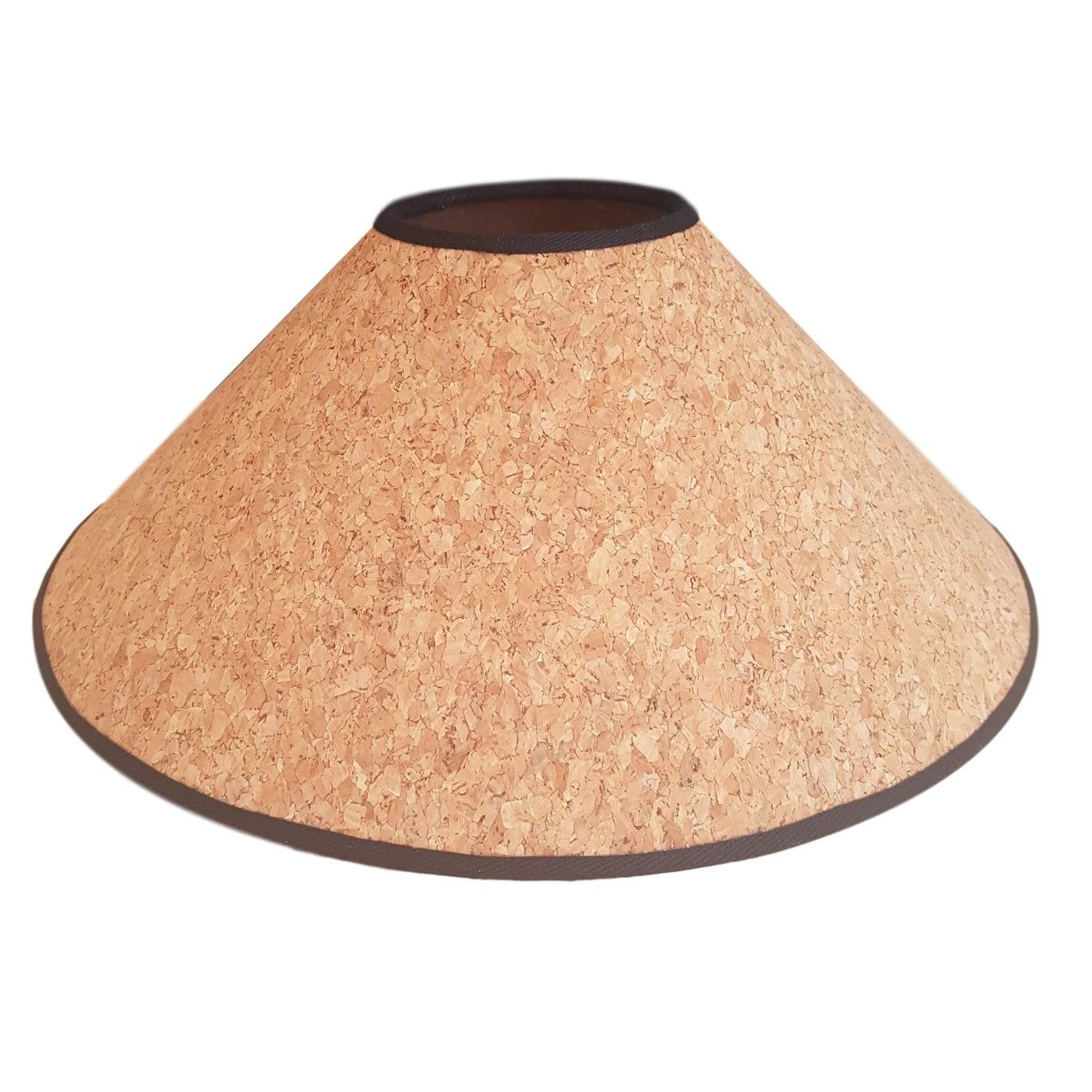 Munro and Kerr handmade cork lampshade with white natural navy black red trim
