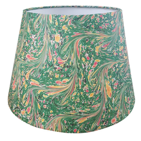 Green #05 Marbled Paper Empire Lampshade