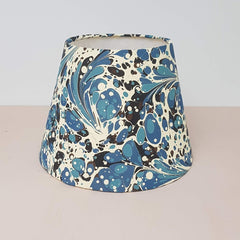 Blue #04 Marbled Paper Empire Lampshade