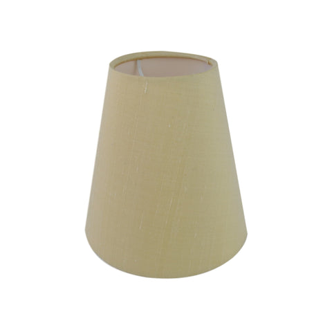 Munro and Kerr silk dupion cream candle clip lampshade