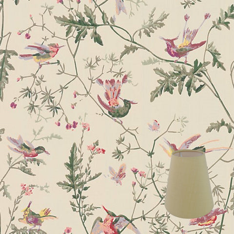Munro and Kerr candle clip lampshade made to order in any paper wallpaper or fabric that the customer would like