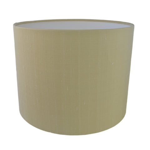 Munro and Kerr silk dupion cream drum lampshade