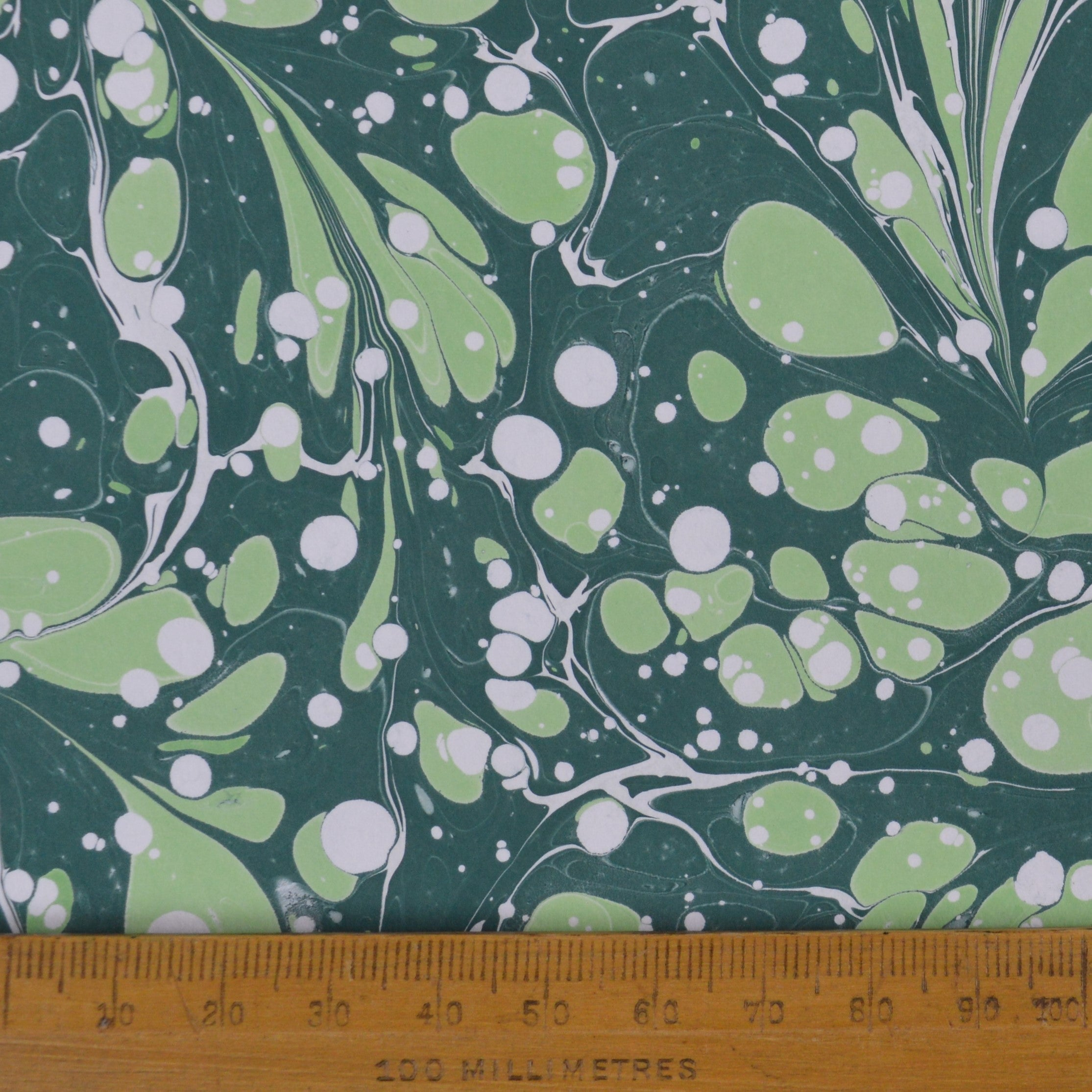 Munro and Kerr green marbled paper for a lampshade