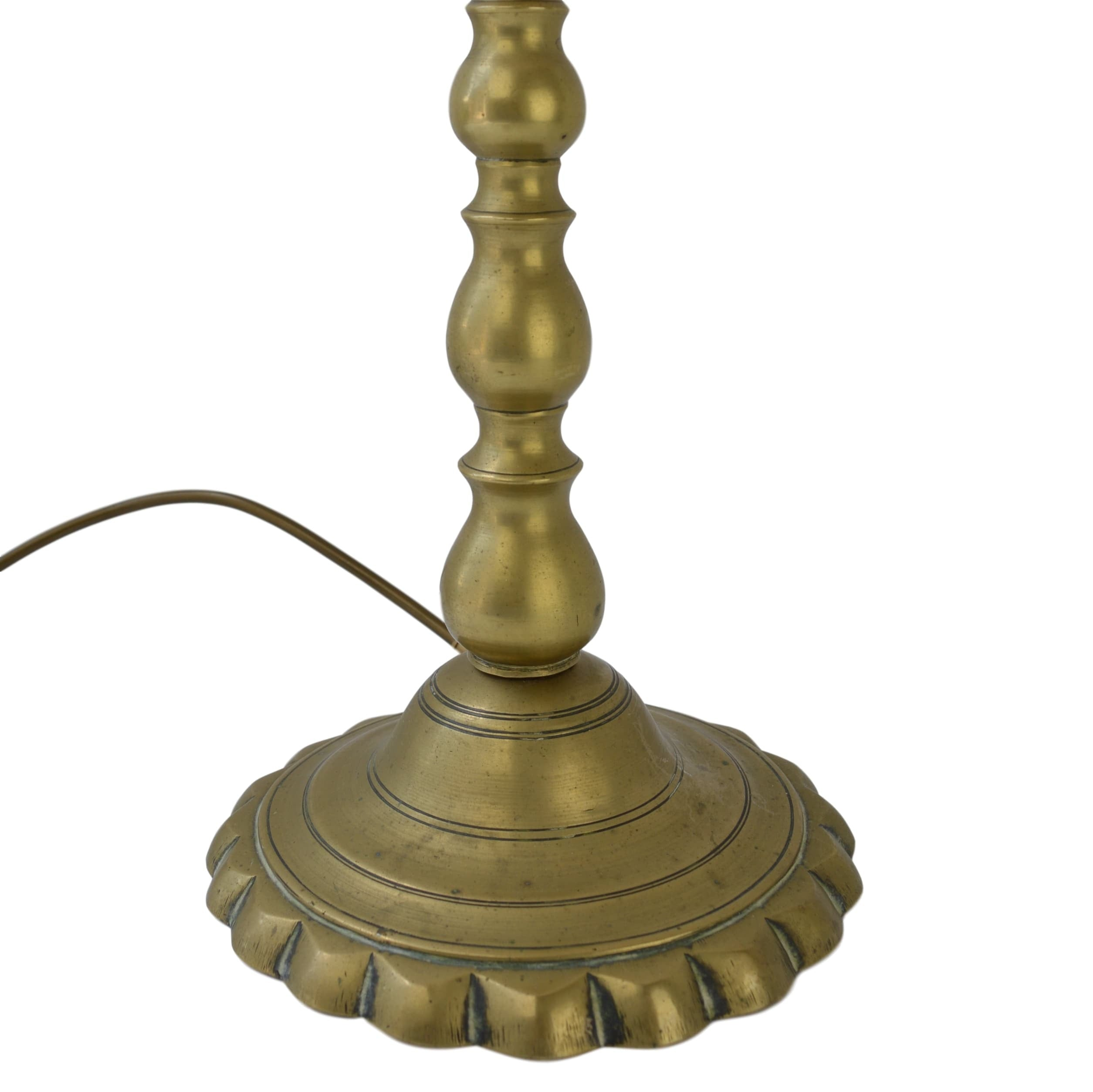 Munro and Kerr brass table lamp