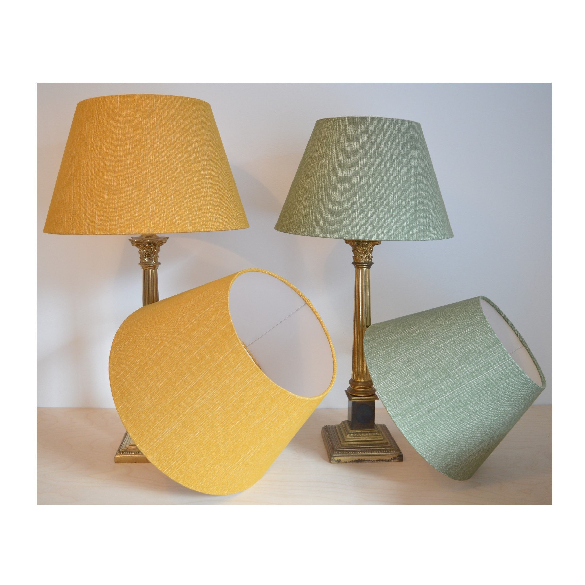 Munro and Kerr customers own material linen empire lampshade
