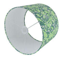 Green #06 Marbled Paper Drum Lampshade