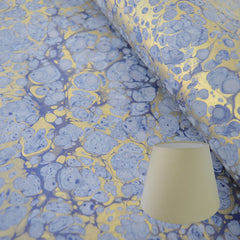 Munro and Kerr blue and gold marble paper empire lampshade