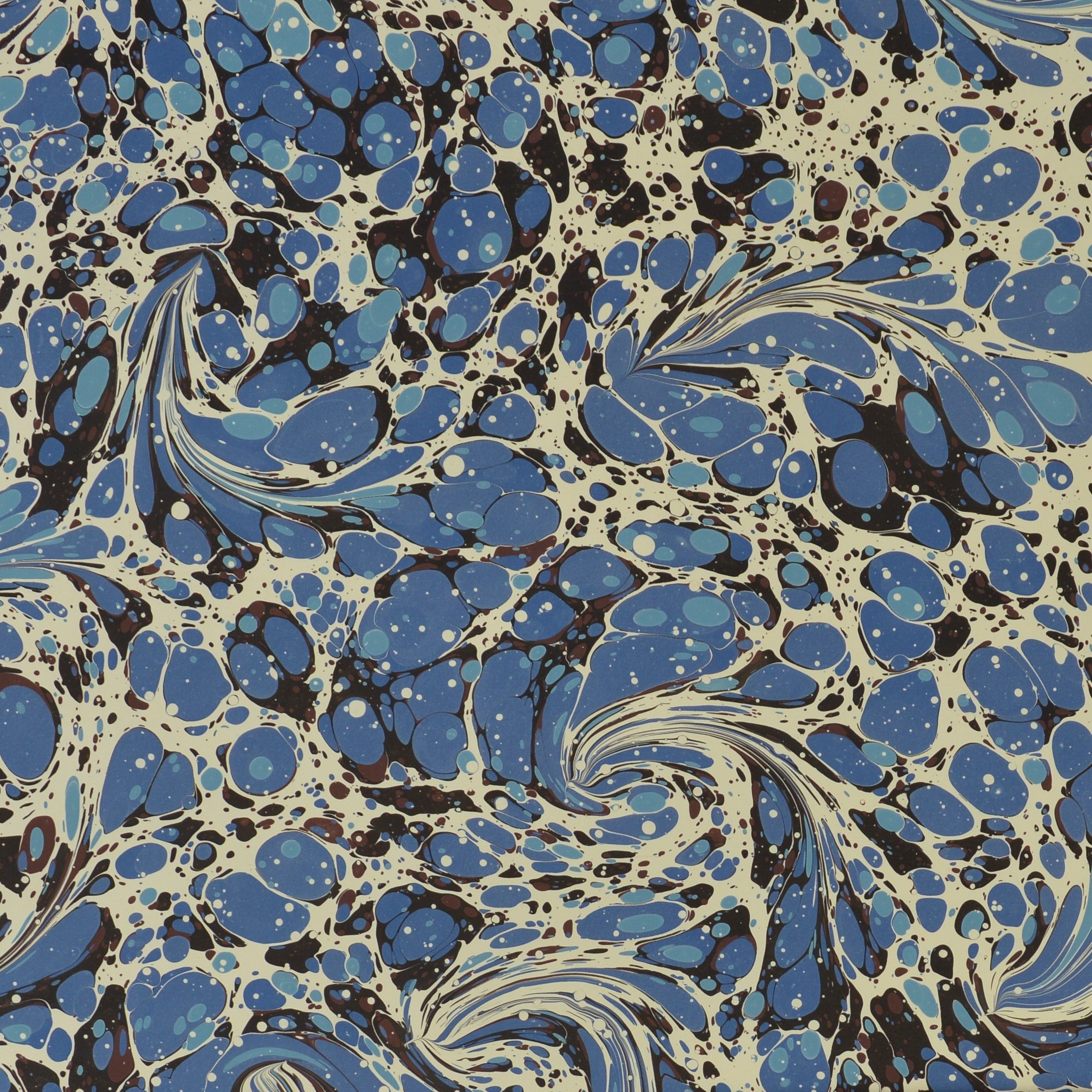 Munro and Kerr blue swirl marbled paper for lampshades