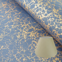 Munro and Kerr navy blue and gold marbled paper for lampshades