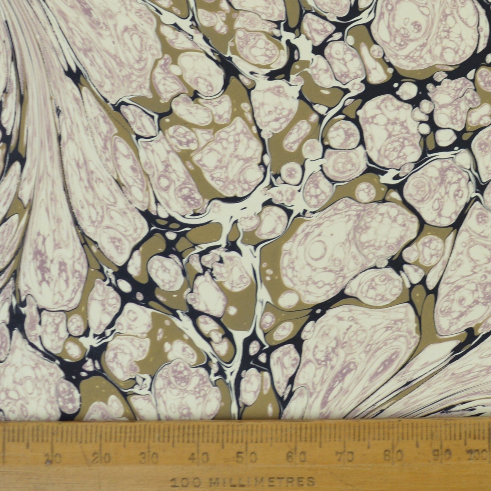 Munro and Kerr pretty pink and stone marbled paper for a lampshade