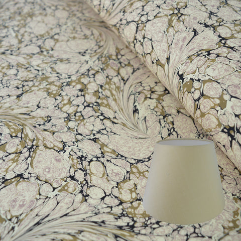 Stone #02 Marbled Paper Empire Lampshade