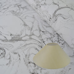 Munro and Kerr black and white hand marbled lampshade paper