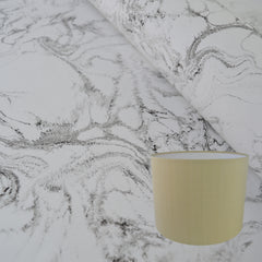 Munro and Kerr Carrara marble look lampshade paper black and white monochrome