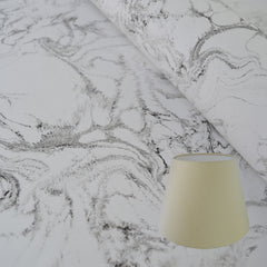 Munro and Kerr Carrara marble paper lampshade. Hand marbled