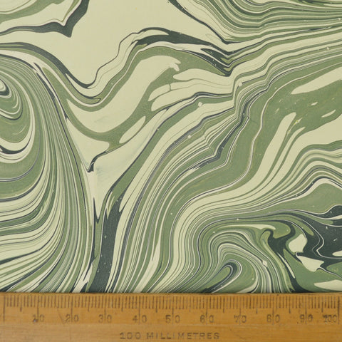 Munro and Kerr green malachite marbled lampshade paper