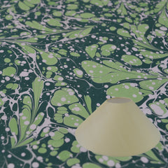 Munro and Kerr green marbled paper for a coolie lampshade