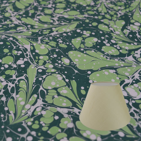 Munro and Kerr green marbled paper for a tapered empire lampshade