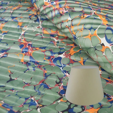 Green #07 Marbled Paper Tapered Drum Lampshade