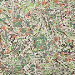 Munro and Kerr modern marbled lampshade empire green cream orange
