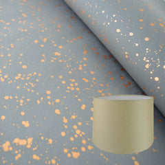 Munro and Kerr grey and copper splatter paper tapered drum  lampshade