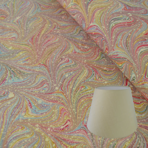 Munro and Kerr combed pink marble paper empire lampshade