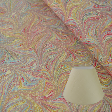 Munro and Kerr combed pink marble paper tapered empire lampshade